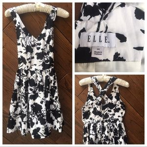 Elle black and white sundress size 10